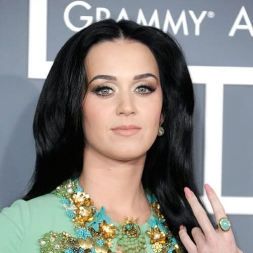 middle part katy perry hairstyles