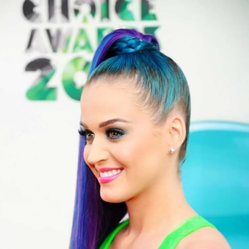 peacock ponytail katy perry hairstyles