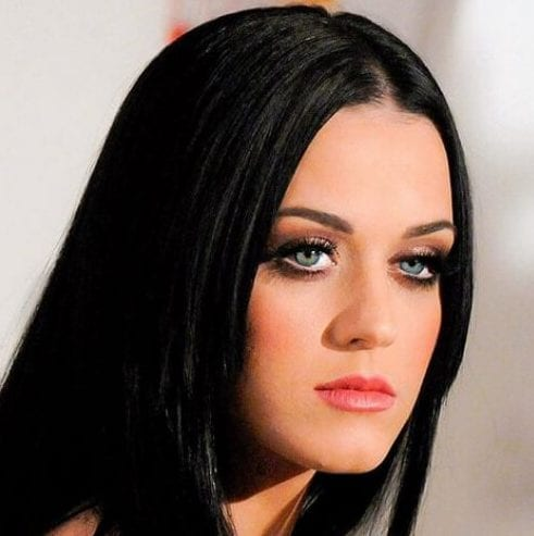 sleek straight katty perry hairstyles