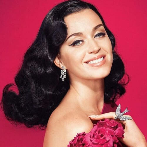 vintage hollywood katy perry hairstyles