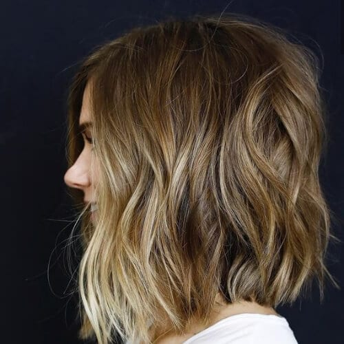 beach waves a line bob haircut