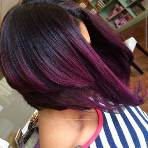 grape a line bob haircut