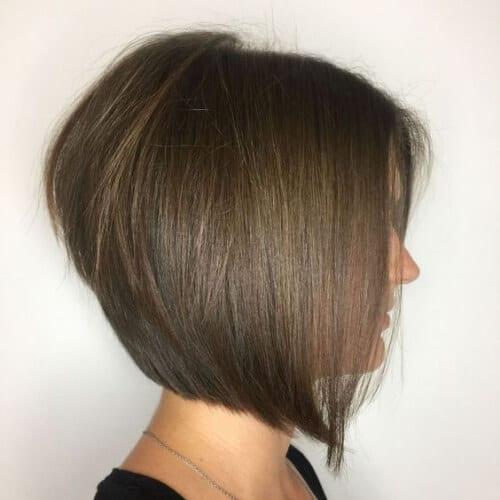 hazlenut a line bob haircut