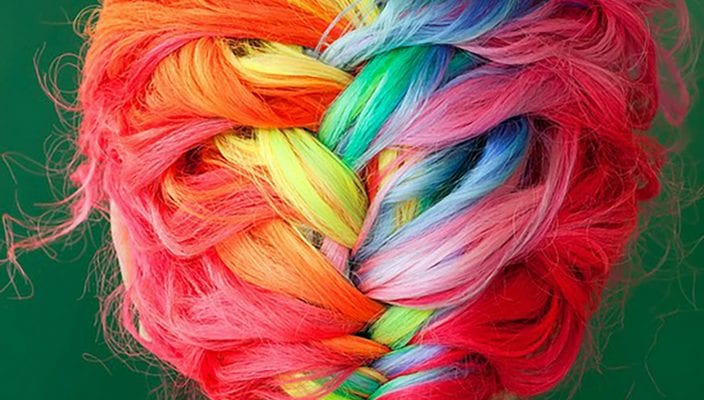 hair rainbow color