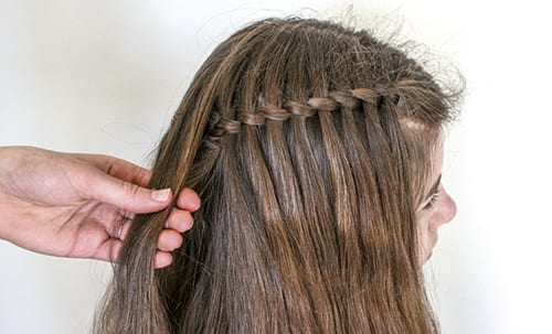 waterfall twist for Little Girl Hairstyles