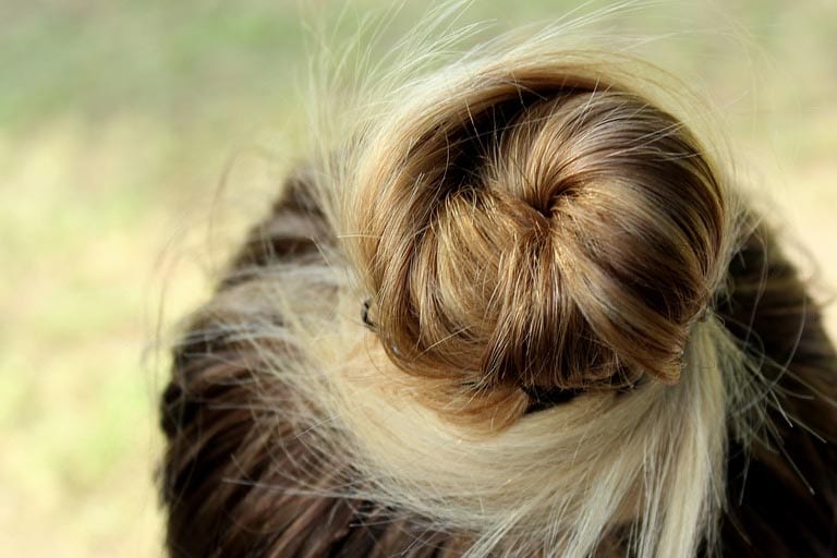 Hair on ponytail hairstyle