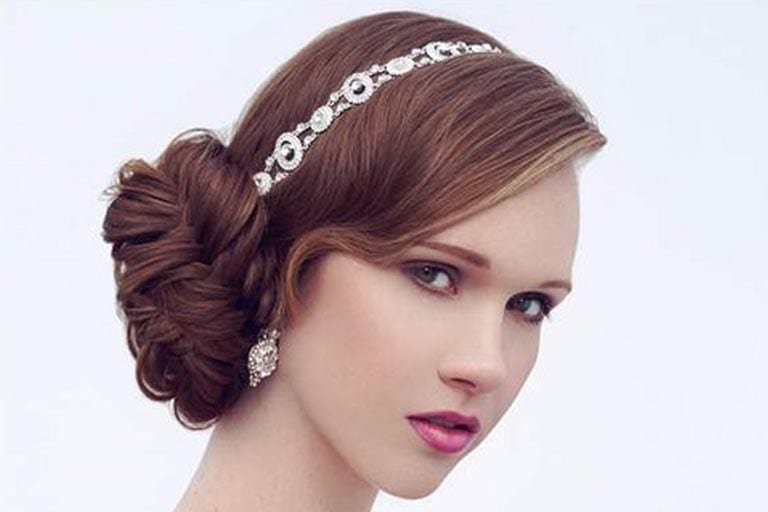 Woman On Her Flower Bun Hairstyle