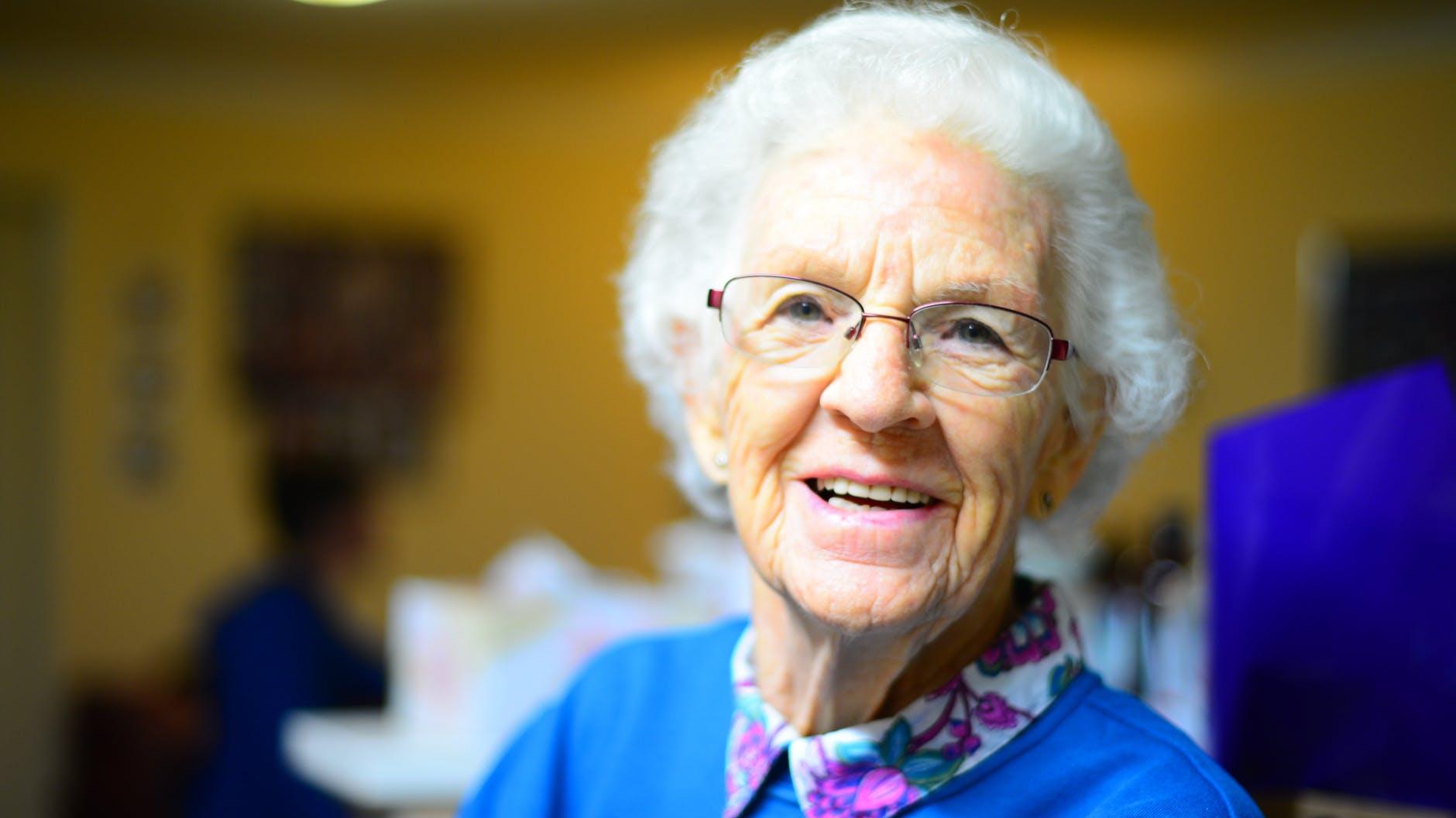 Smiling face of senior woman