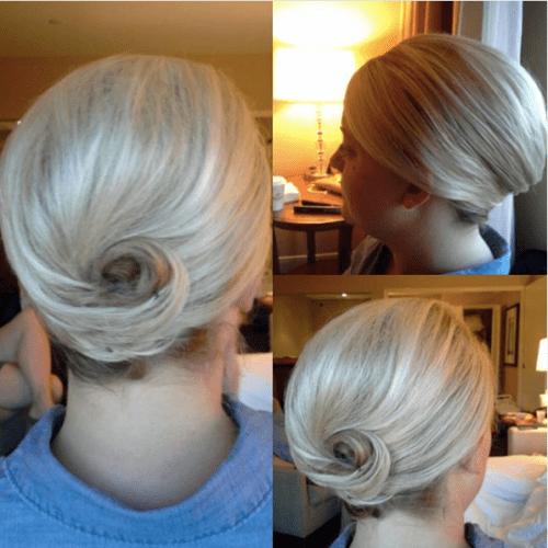 Classy Side Bun for Short Hair