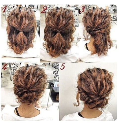 Easy Updos for Short Hair Twist and Pin