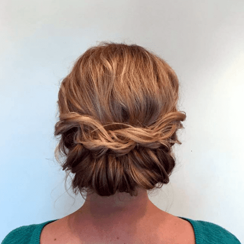 How to Style Short Hair Roll Up and Pin