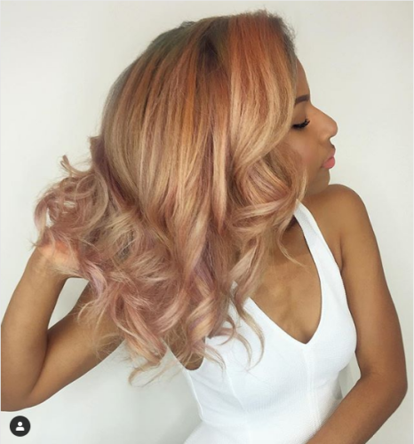 Light Strawberry Blonde Hair Color with Pink Highlights