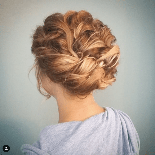 Updos for Short Hair Low Braided Bun