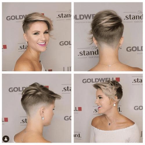 Upswept Hairstyle for Shorter Hair