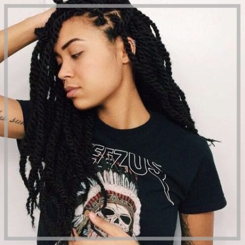 kinky twists hairstyles featured image