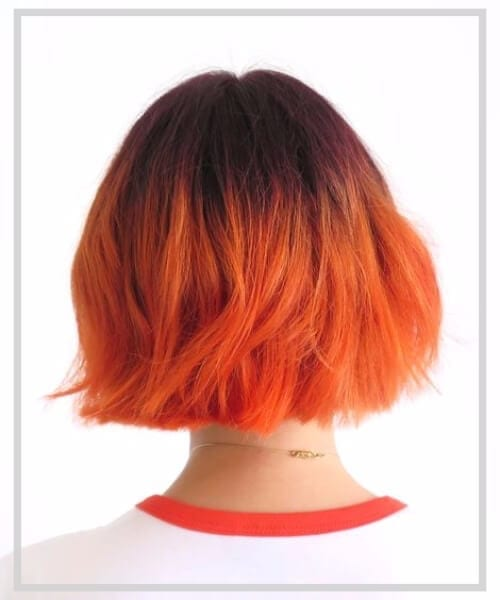 tangerine short hair ombre featured image