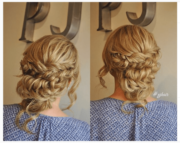 thick dutch braids updo