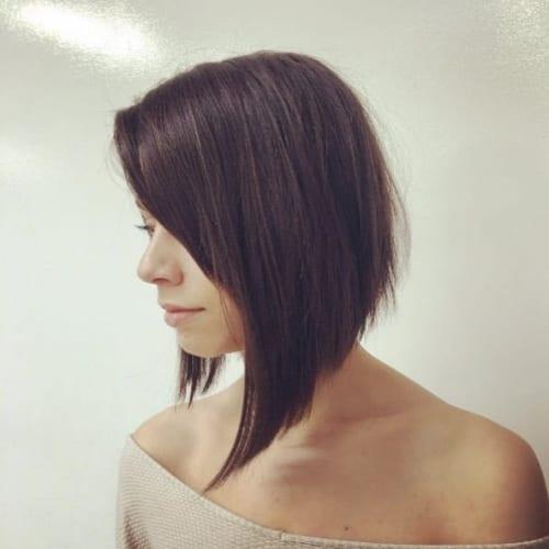 a-line asymmetrical bob