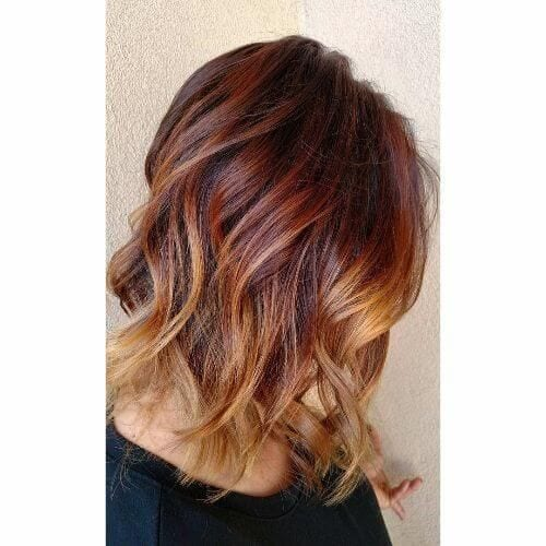 caramel hair with red under color