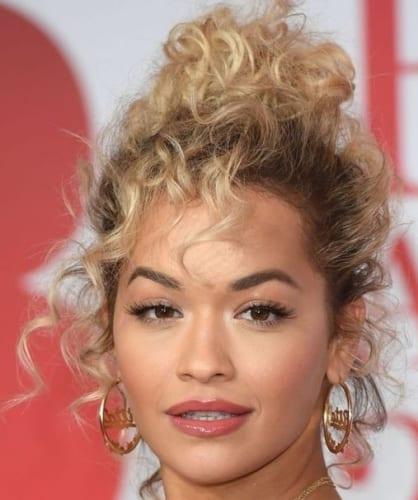 Rita Ora Curly Hairstyle