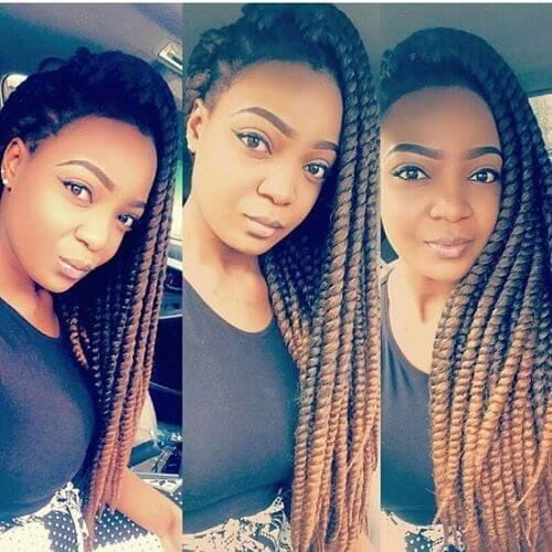 big thick twist braids