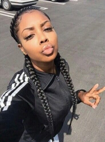 boxer braids selfie