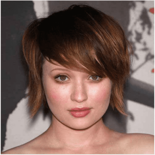 caramel bob cut with bangs