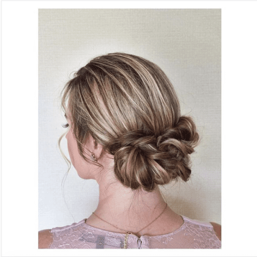 gorgeous twist braids updo