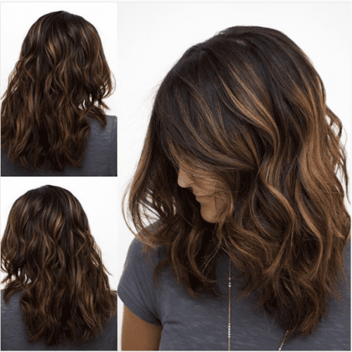 Honey Caramel Highlights on Dark Caramel Hair