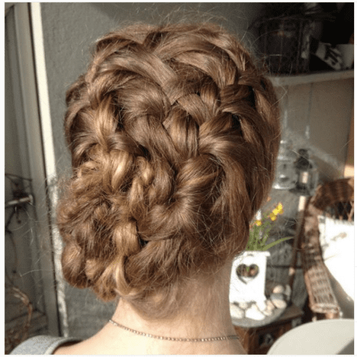 intricate strands braided bun