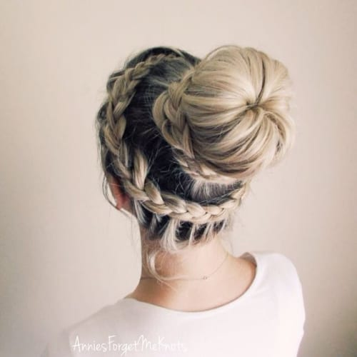 lace dutch crown braid