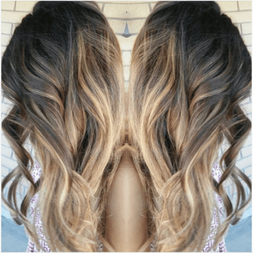 light to dark caramel wavy hair