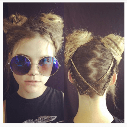 Ram Horns Hairstyle
