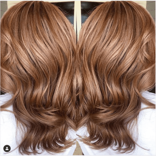 red and blonde caramel hair