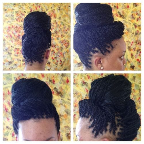 senegal braids in box braid updo