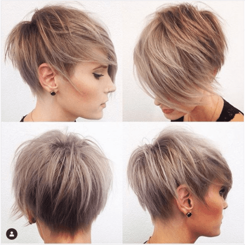 short pixie golden caramel hair