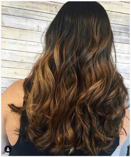 caramel sombre hair