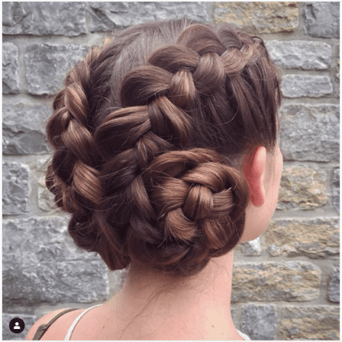 thin side braids for medium hair updo