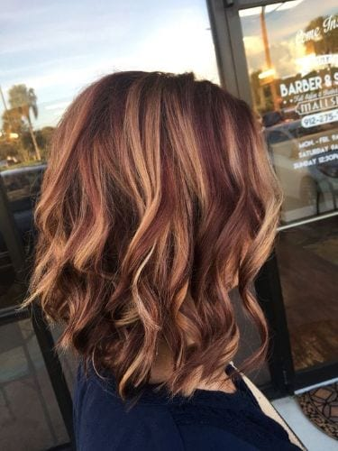 Fall Balayage Hair Colors