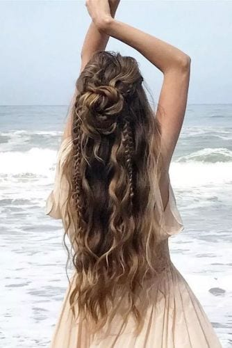 boho Half Up Half Down Braided Hairstyles