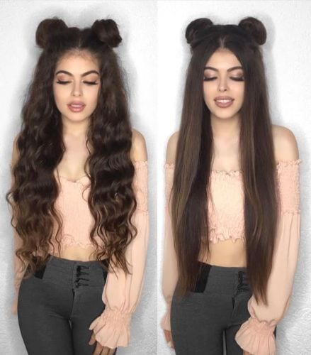 Half Up Half Down Buns Hairstyles