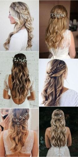 Half Up Half Down Hairstyles Wedding Inspiration