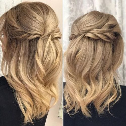 Half Up Half Down Hairstyles for Wavy Hair