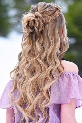 Half Up Half Down Prom Hairstyles