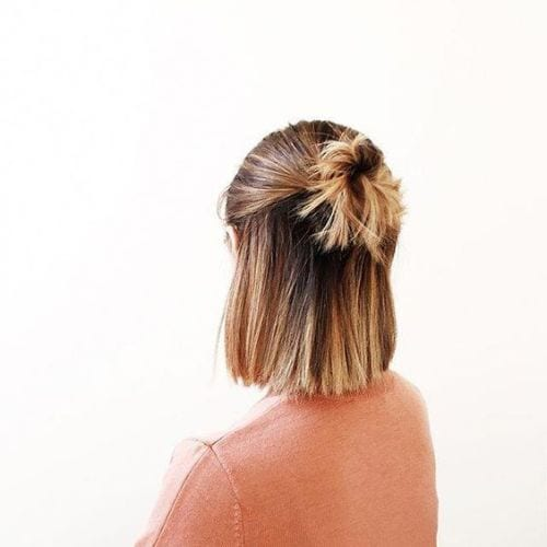 Half Up Half Down Straight Hairstyles