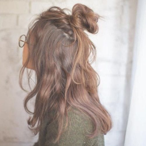 Messy Half Up Half Down Hairstyles