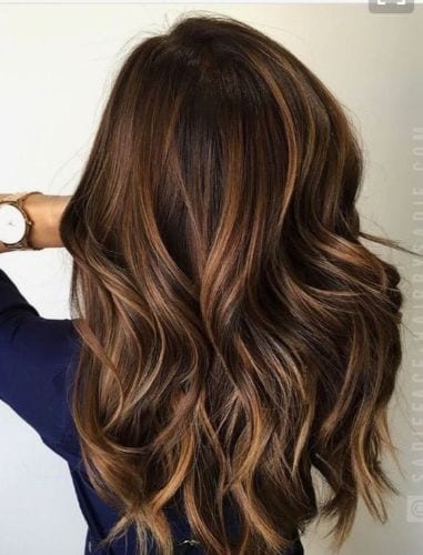 Pretty Fall Hair Colors in a Beautiful Balayage