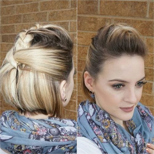 Short Half Up Half Down Hairstyles