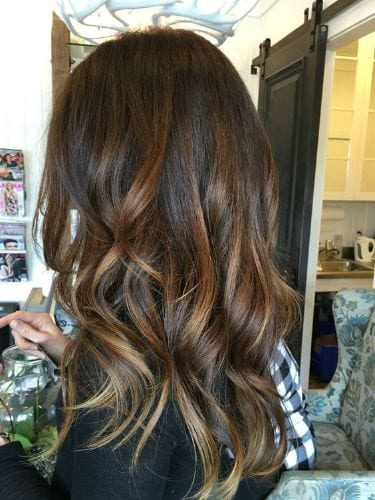 Warm Brown Balayage Hair Color Ideas