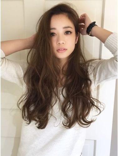 asian wavy hair